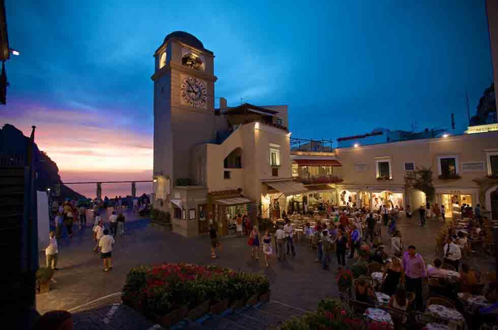 Isola di Capri La Piazzetta