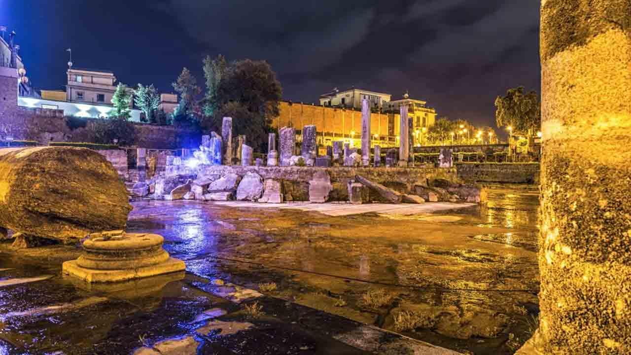 Tempio di Serapide luci led