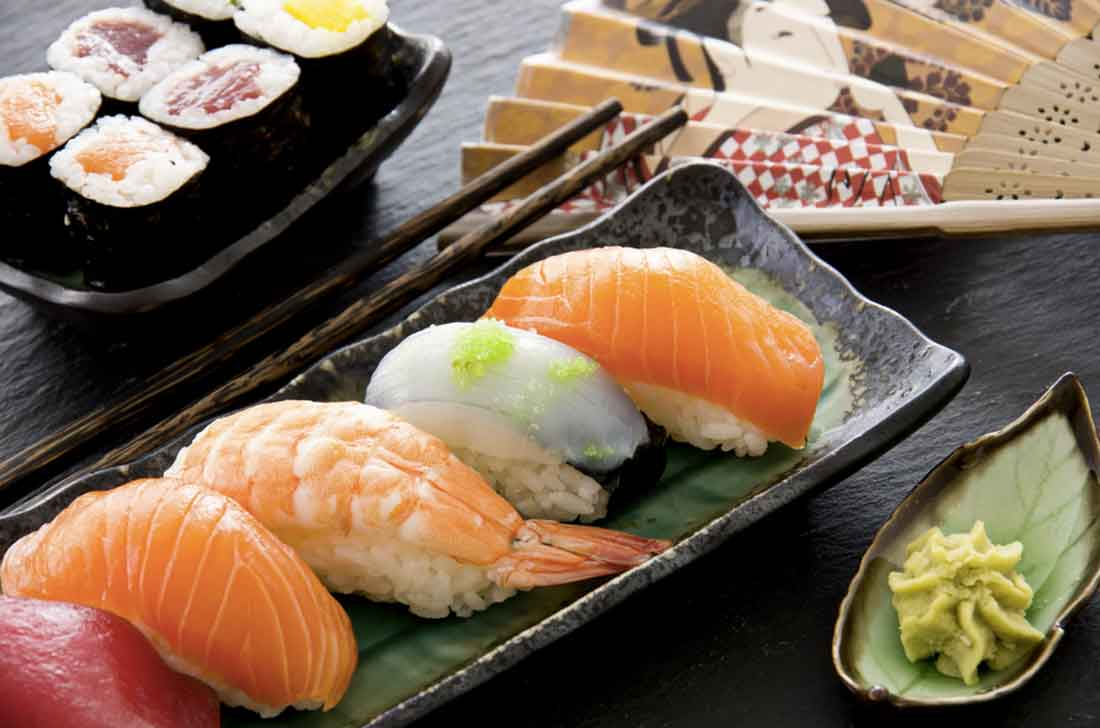 Mangiare Giapponese sushi