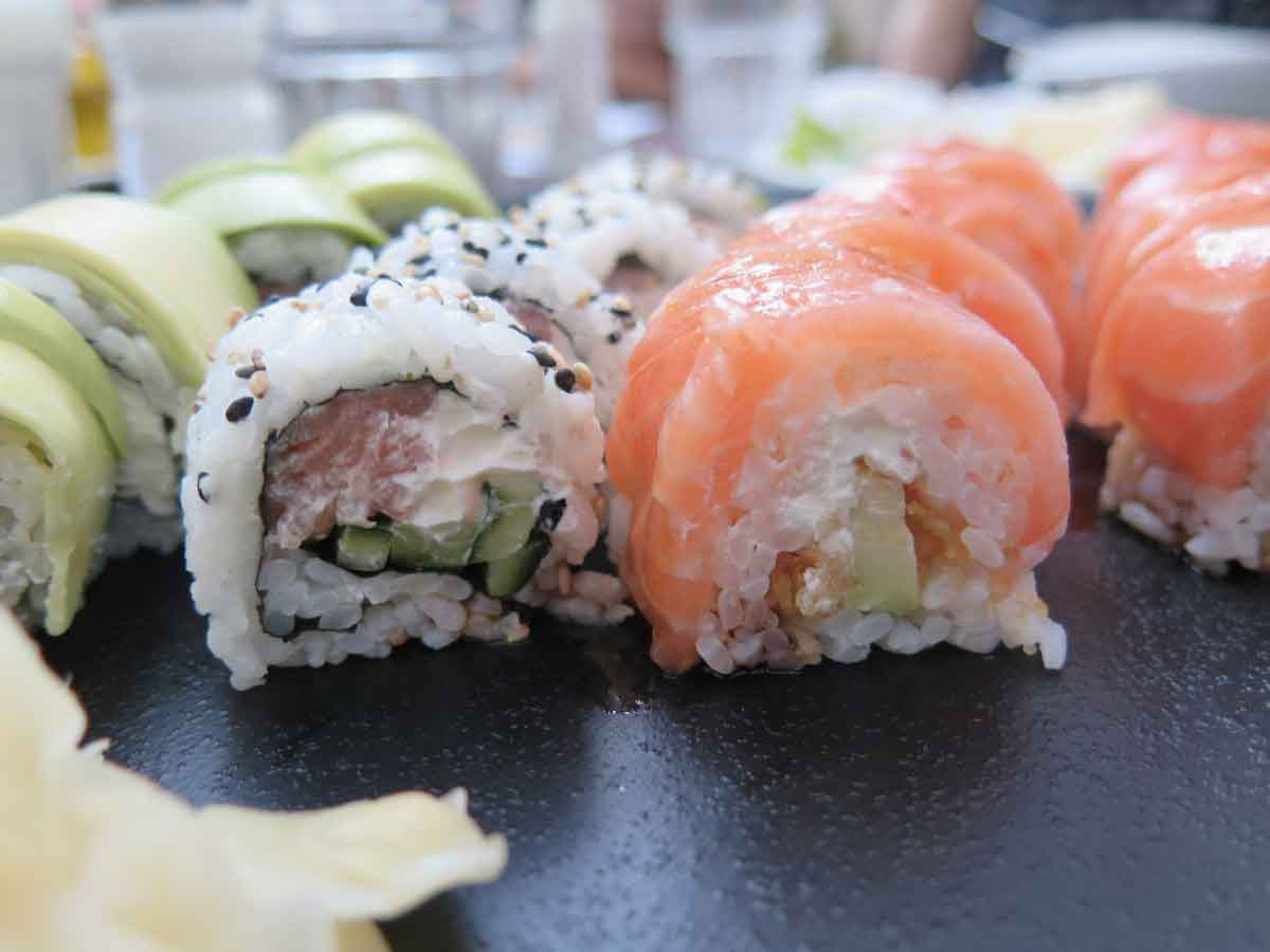 Sushi mangiare Giapponese
