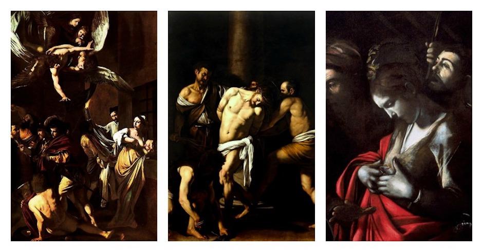 Tre straordinarie opere di Caravaggio a Napoli