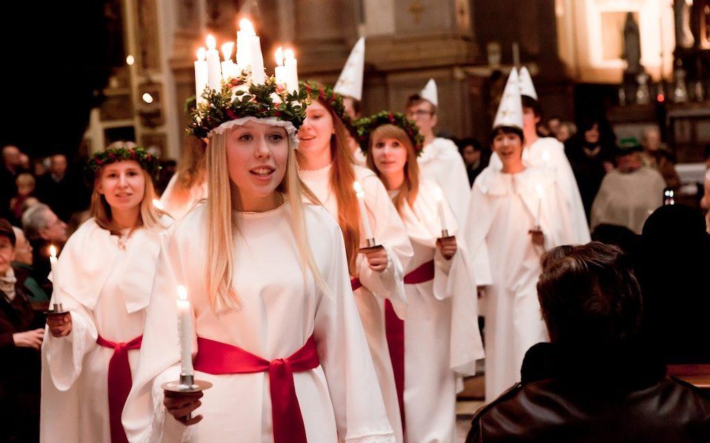 La Svezia porta a Napoli la tradizionale festa di Santa Lucia