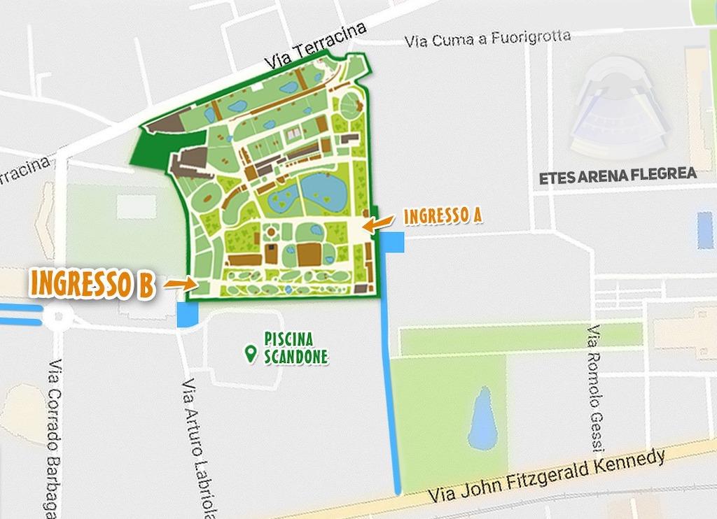 Lo zoo di Napoli come arrivare