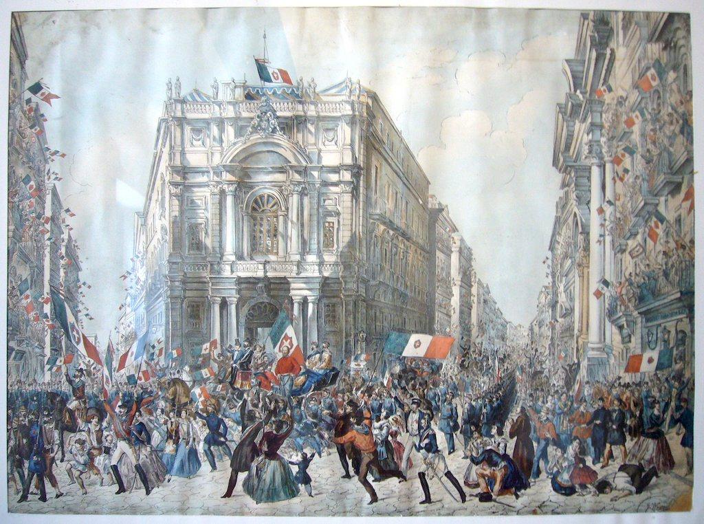 Ingresso di Garibaldi a Napoli eseguito da Wenzel Franz