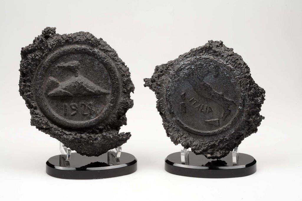 Real Museo Mineralogico Napoli - Medaglie coniate nella lava