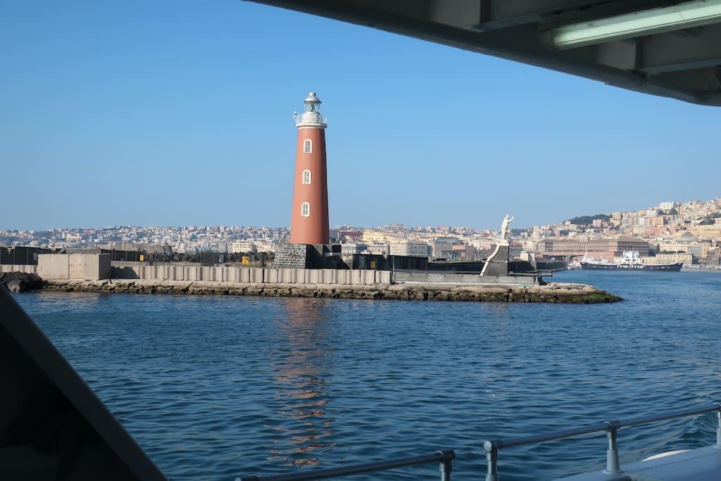 Porto di Napoli Faro Molo San Vincenzo