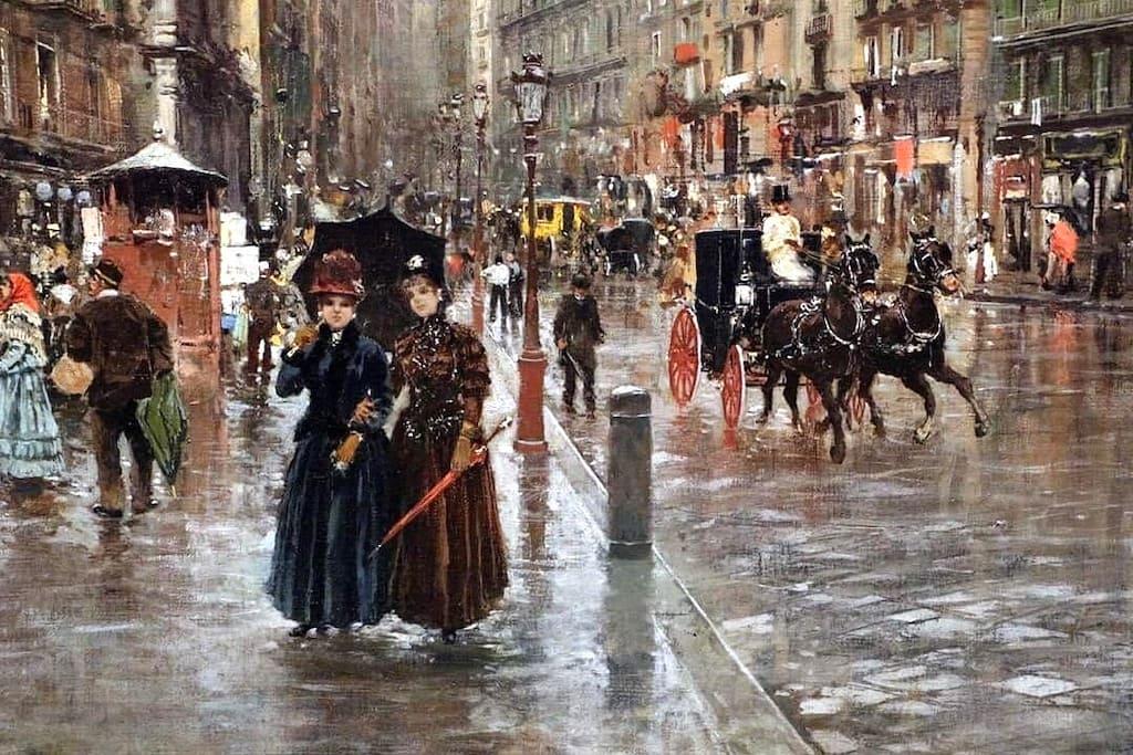 Via Toledo, impressione di pioggia , Carlo brancaccio